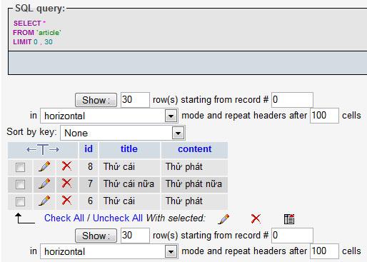 Thông tin UTF-8 được lưu trong database