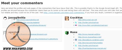 Meet Your Commenters plugin