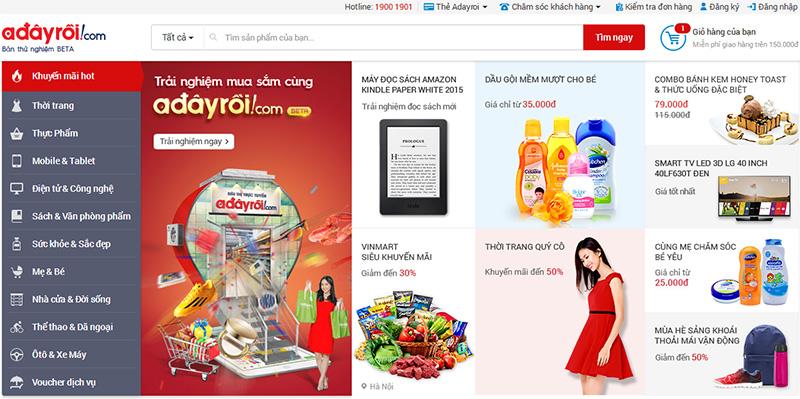 VINGROUP ra mắt Adayroi.com sau 2 năm đục đẽo