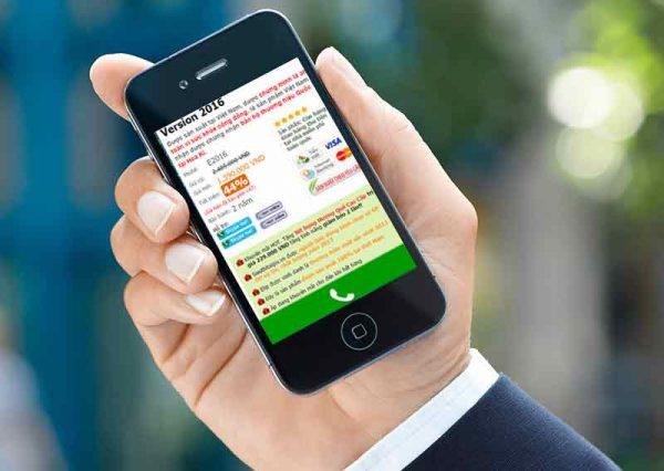 Phiên bản Mobile SieuThiTaiGia.VN với nút gọi điện.